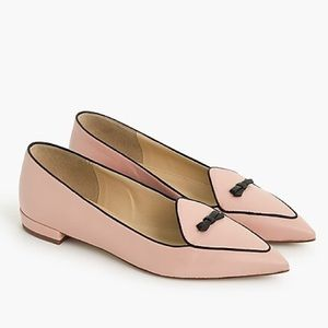 J.Crew Two-tone Pointed-toe Pink & Black Loafers